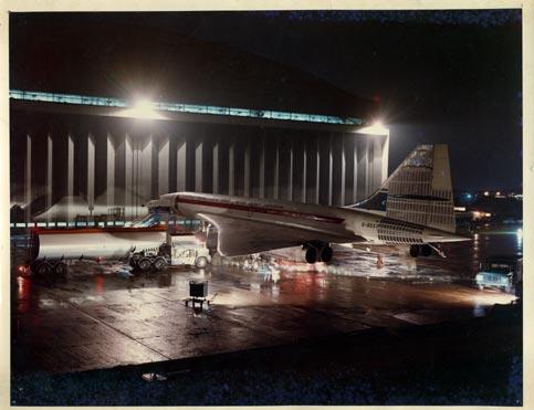 Concorde at Filton in 1969